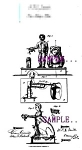 Click here to enlarge image and see more about item PAT0806B3-2006: Patent Art: 1870s MARK TWAIN - Frog Mechanical BANK