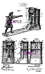 Click here to enlarge image and see more about item PAT0806B4-2006: Patent Art: 1890s WILLIAM TELL Mechanical BANK