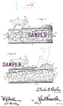 Click here to enlarge image and see more about item PAT0807A6-2006: Patent Art: 1910s BUTTING GOAT Mechanical BANK - matted
