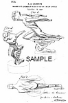 Click here to enlarge image and see more about item PAT0807AA8: '28 Art Deco MUSCLE MAN AUTO MASCOT Print