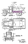 Click here to enlarge image and see more about item PAT0808A5B-2006: Patent Art: 1930s WYANDOTTE TOY DUMP TRUCK - matted