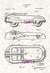 Click here to enlarge image and see more about item PAT0808A7-2006: Patent Art: 1940s American Metalcraft TOY WAGON -matted