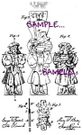 Patent Art: 1890s TOY PAPER DOLL - Matted Print