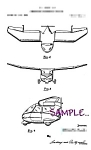 Click here to enlarge image and see more about item PAT0808B3-2006: Patent Art: 1950s COMBINATION CAR-AIRPLANE - matted