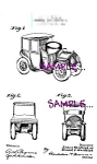 Click here to enlarge image and see more about item PAT0808B6-2006: Patent Art: 1907 Car Figural INKWELL AND PINCUSHION