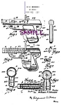 Click here to enlarge image and see more about item PAT0808C2-2006: Patent Art: 1920s WYANDOTTE TOY GUN PISTOL - matted