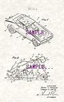 Click here to enlarge image and see more about item PAT0808C3-2006: Patent Art: 1970s Hot Wheels DIECAST FUNNY CAR - matted