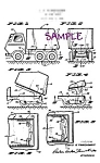 Click here to enlarge image and see more about item PAT0808D1-2006: Patent Art: 1960s TONKA Toy DUMP TRUCK