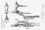 Patent Art: 1935 Art Deco PONTIAC Mascot - matted