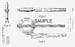 Patent Art: 1936 Art Deco PONTIAC Mascot - Matted