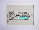 Click here to enlarge image and see more about item PAT0810CC1E: Patent Art: 1919 HARLEY DAVIDSON Motorcycle - matted