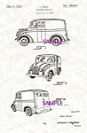 Click here to enlarge image and see more about item PAT0811AA1E: Patent Art: 1938 Divco MILK TRUCK - matted