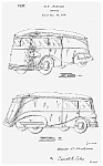 Click here to enlarge image and see more about item PAT0811AA3E: Cool 1930s STREAMLINED TRUCK Patent-Matted