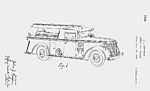 Click here to enlarge image and see more about item PAT0811AA4: 1930s FIRE PUMPER Patent-Matted