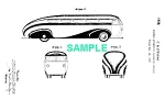 Click here to enlarge image and see more about item PAT0811BB2X: Patent Art: 1930s Brook Stevens STREAMLINE BUS - Matted