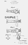 Click here to enlarge image and see more about item PAT0815AA2E: Patent Art: 1930s AIRPLANE Candy Container - matted