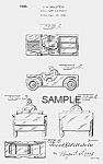 Click here to enlarge image and see more about item PAT0815AA4: Patent Art: 1940s ARMY JEEP Candy Container - Matted