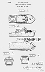 Click here to enlarge image and see more about item PAT0815AA5: Patent Art: 1940s CRUISER Candy Container - Matted