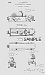 Click here to enlarge image and see more about item PAT0815AA8: Patent Art: 1940s FIRETRUCK Candy Container - Matted