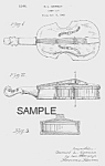 Click here to enlarge image and see more about item PAT0816AA2E: Patent Art: 1940s VIOLIN Candy Container - Matted Print
