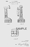 Click here to enlarge image and see more about item PAT0816AA3E: Patent Art: 1940s TELEPHONE Candy Container - Matted