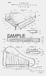 Click here to enlarge image and see more about item PAT0816AA7E: Patent Art: 1950s PIANO Candy Container - Matted