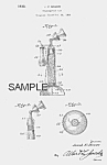 Click here to enlarge image and see more about item PAT0816AA9: Patent Art: 1930s TELEPHONE Candy Container - Matted