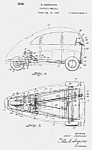 Click here to enlarge image and see more about item PAT0816BB1E: Patent Art: Karl Donovan 3-WHEELED CAR - Matted