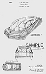 Click here to enlarge image and see more about item PAT0816BB6: Patent Art: 1940s BOHN Future Streamlined Car - matted