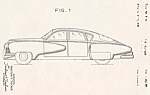 Click here to enlarge image and see more about item PAT0816CC1E: Patent Art: 1948 TUCKER  Automobile - Matted