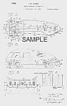 Click here to enlarge image and see more about item PAT0817BB1: Patent Art: Jones 3-Wheeled STREAMLINED AUTO