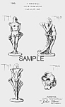 Click here to enlarge image and see more about item PAT0817BB4E: Patent Art: 1940s Metlox ROMANELLI NUDE Pottery