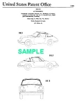 Click here to enlarge image and see more about item PAT0817BB6: Patent Art: 1966 PORSCHE 912 TARGA - Matted
