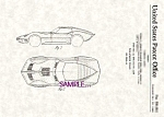Click here to enlarge image and see more about item PAT0817BB7: Patent Art: 1965 CORVETTE MAKO SHARK II - Matted