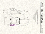 Click here to enlarge image and see more about item PAT0817BB8: Patent Art: 1968 CORVETTE Automobile - Matted