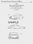 Click here to enlarge image and see more about item PAT0817CC1: Patent Art: 1964 PORSCHE 911 - Matted Print
