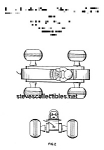Click here to enlarge image and see more about item PAT0817DD2: Patent Art: BOUNCY RACER #8 FISHER PRICE Toy-matted