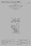 Click here to enlarge image and see more about item PAT0818AA4: Patent Art: 1950s CHATTER MONK #798 FISHER PRICE Toy