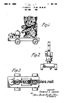 Click here to enlarge image and see more about item PAT0818BB1: Patent Art: 1950s KITTY BELL #499 FISHER PRICE Toy