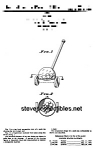 Click here to enlarge image and see more about item PAT0818EE7: Patent Art: CORN POPPER #785 Fisher Price Toy-matted