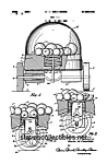 Click here to enlarge image and see more about item PAT0818EE7B: Patent Art: 1960s CORN POPPER #785 Fisher Price Toy