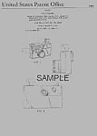 Click here to enlarge image and see more about item PAT0818FF3E: Patent Art: PICTURE STORY CAMERA Fisher Price Toy