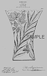 Click here to enlarge image and see more about item PAT0819AA2E: Patent Art: 1900s PAIRPOINT GLASS Vase B - Matted