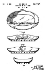 Click here to enlarge image and see more about item PAT0820AA2E: Patent Art: 1940 Metlox PROUTY FLOWER BOWL - matted