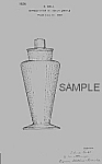 Click here to enlarge image and see more about item PAT0820AA4E: Patent Art: 1920s BRYCE COCKTAIL SHAKER - Matted