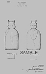 Click here to enlarge image and see more about item PAT0820BB4E: 1940s Cream Top BABY HEADS MILK BOTTLE Patent