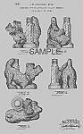 Patent Art: 1940s SCOTTIE DOG PERFUME HOLDER - matted