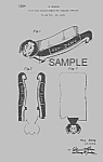 Click here to enlarge image and see more about item PAT0820BB9E: Patent Art: 1950s DACHSHUND Hotdog Holder - matted