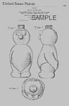 Click here to enlarge image and see more about item PAT0820CC9E: Patent Art: 1970s MR. BUBBLE Soakie Design - matted