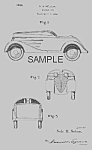 Click here to enlarge image and see more about item PAT0820DD2: Amazing 1930s PEDAL CAR Patent-Matted